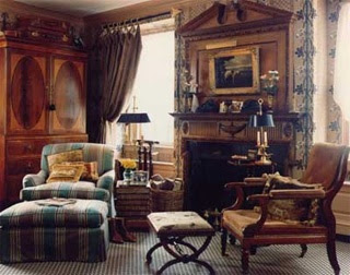 Old English Living Room Designs Round Sofa Eye For Design Decorate Your Home In Style Needlepoint Spaniel Pillow And Staffordshire Figurines Like The One Made Into A Lamp Are Perennials Favorites Of Rooms