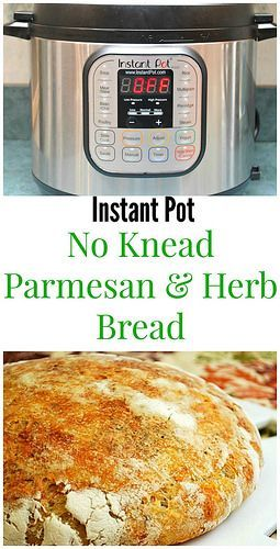 Instant Pot: No Knead Parmesan & Garlic Bread