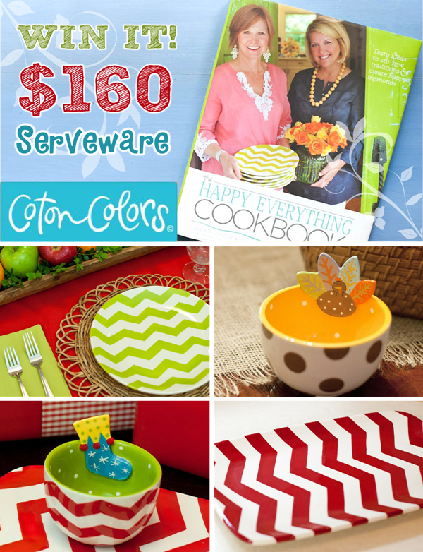 Giveaway | Party Tableware, Serveware and Cookbook
