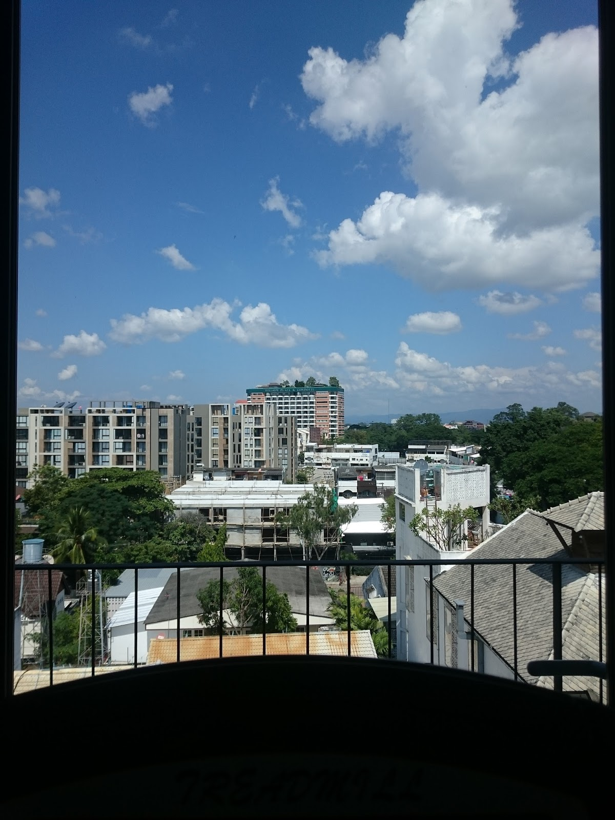 view from the treadmill at the Palm Springs in Nimman, Chiang Mai