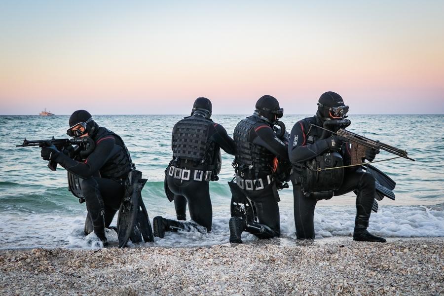 Навчання бойових плавців різних відомств України