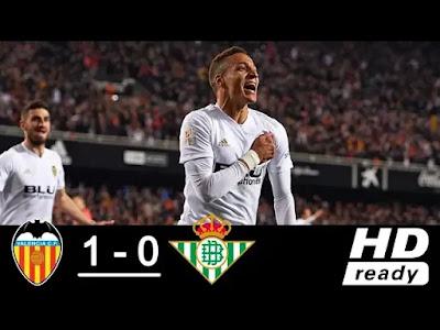 Valencia vs Real Betis 1-0 Football Highlights and Goals 2019