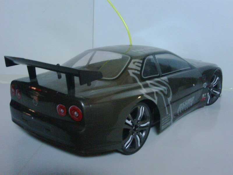 RC DRIFT NISSAN SKYLINE R34 GTR 4WD 1:10 TURBO title=