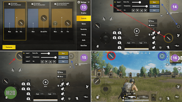 Setting PUBG Mobile tombol L1R1