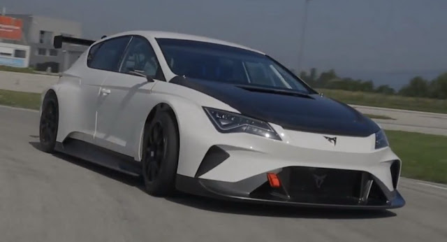 "Electric Cupra e-Racer Makes Its Debut On Track With 670HP BY Michael Karkafiris | Posted on July 8, 2018 40 SHARES 	Share to Facebook FacebookShare to WhatsApp WhatsAppShare to Messenger MessengerShare to Twitter TwitterShare to Reddit RedditShare to Pinterest Pinterest  Cupra, Seat's performance sub-brand, has completed the first shakedown of the e-Racer on track and released the first figures of its upcoming electric racing car.  The rear-wheel drive, Leon-based Cupra e-Racer, features a 65kWh battery pack with 6,072 cells, which is equivalent to 9,000 mobile phones, and makes 402hp (407PS) of continual power and 670hp (680PS) of peak power.  According to Cupra, the electric touring racecar can sprint from 0 to 62mph (100km/h) in 3.2 seconds and to 124mph (200km/h) in 8.2 seconds.  Cupra took the e-Racer for its first real-world dynamic debut at a track in Zagreb, Croatia, testing the operation of the electrical components, the battery pack and the cooling and propulsion systems together for the first time.  The company said that the first results are very optimistic, especially considering the high temperature conditions at the track.  The race car's chassis is based on the existing Cupra Leon TCR that competes in the World Touring Car Cup. The e-Racer is the first touring car that complies with the rules in the new E TCR series, the first electric multi-brand touring car championship.  ""With the CUPRA e-Racer we want to bring racing to the next level. We believe we can help reinvent motorsport and achieve success. Motorsport is one of the pillars of CUPRA, and we are proud of the team that is making this electric touring racecar possible"", read Seat's official press release.     TagsCupra, Motorsport, Racing, SEAT, Seat Leon, Seat Leon Cupra, Seat Videos, Video"
