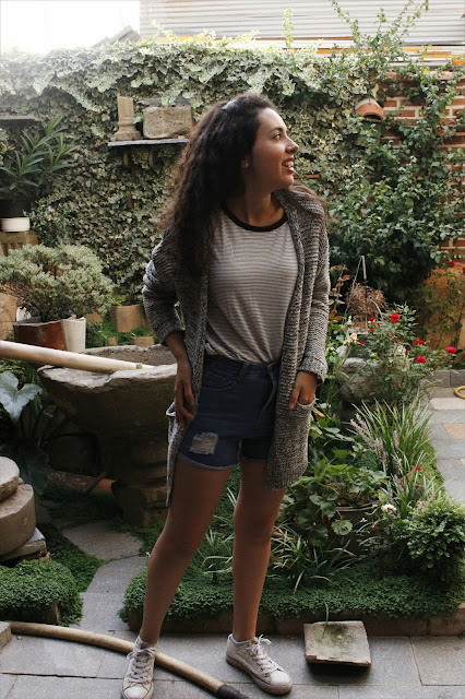 SHORTS + CARDIGAN OUTFIT Falling for A blog