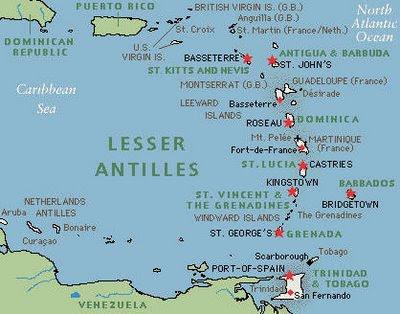 antilhas francesas mapa BLOG DO PROFESSOR MARCIANO DANTAS: AS ANTILHAS antilhas francesas mapa