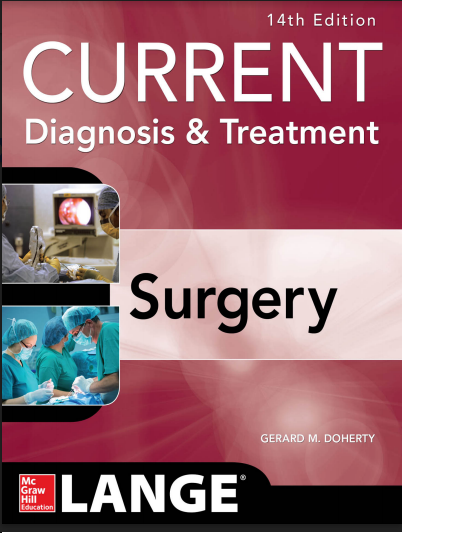 The best surgery books pdf free download medical e books medical current diagnosis treatment surgery 14e download fandeluxe Gallery