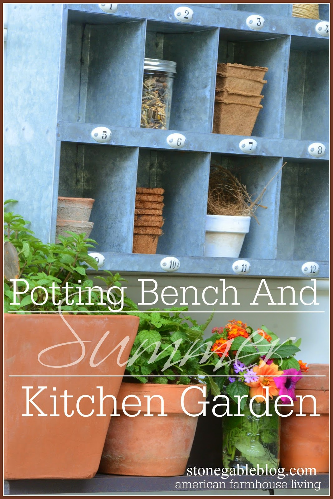 SUMMER POTTING BENCH AND KITCHEN GARDEN - StoneGable