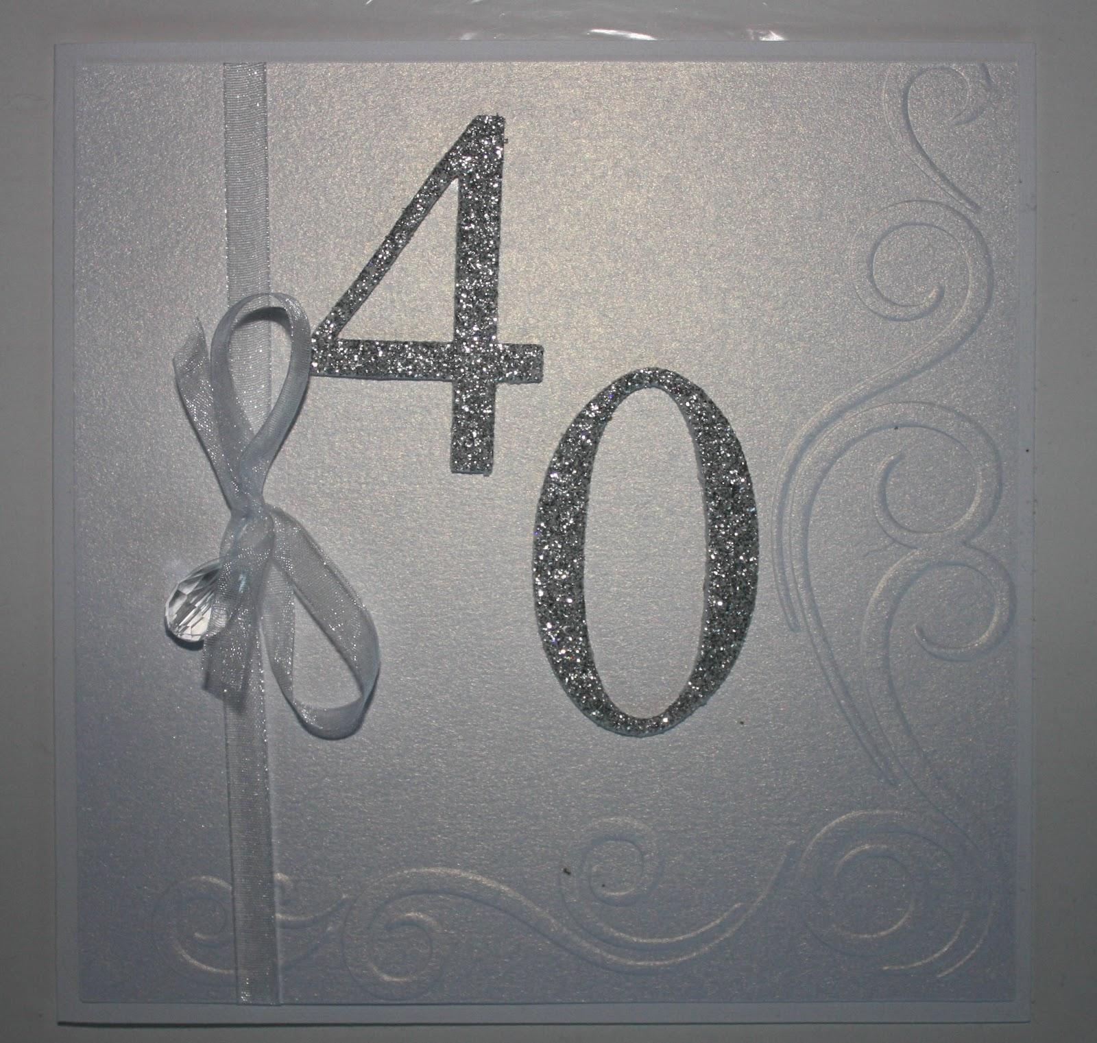 födelsedagskort 40 år Pyssel och Kort: 40 års inbjudan födelsedagskort 40 år
