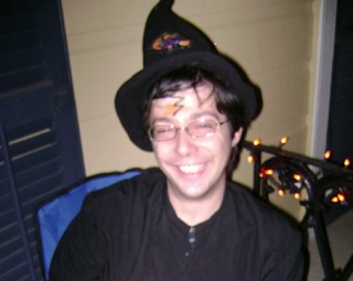 Greig Roselli Wears a Harry Potter themed Halloween Costume on Halloween in New Orleans, Louisiana