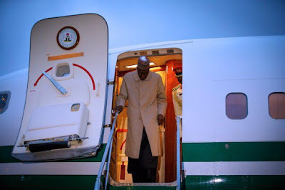 Buhari yet to arrive Nigeria two days after leaving U.S.?