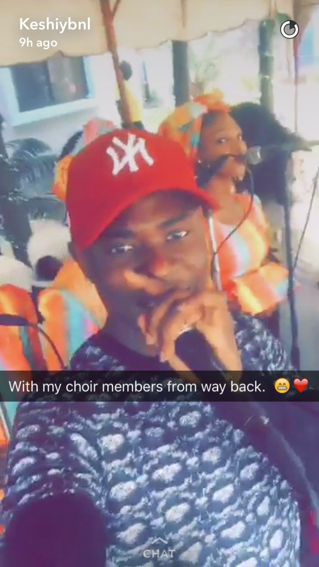 Lil Kesh returns to church, performs with former choir members (Photos)