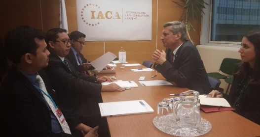 Fadli Zon bertemu dengan pimpinan International Anti-Corruption Academy