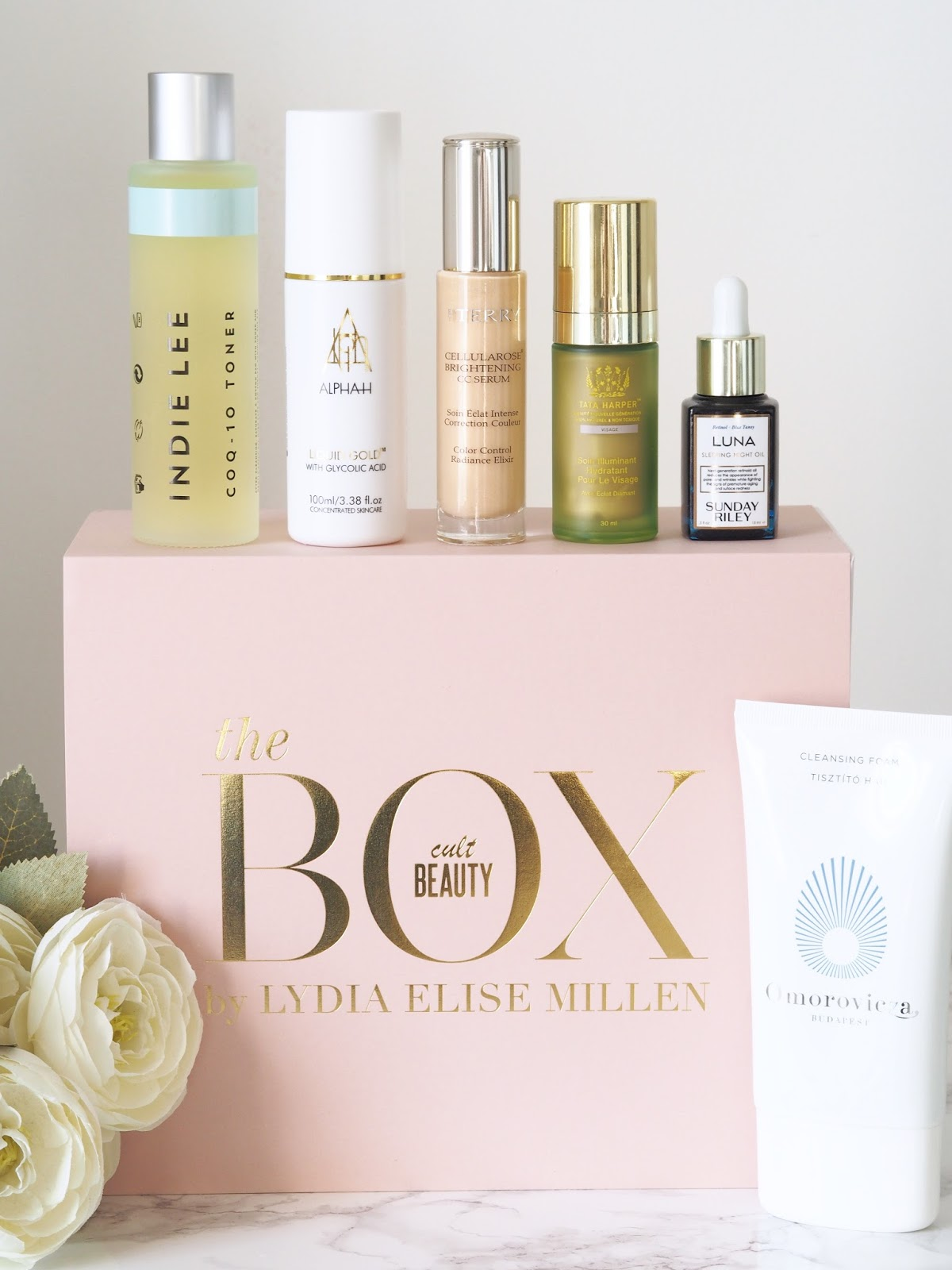 Cult Beauty x Lydia Millen Beauty box review \ Glowing skin \ Priceless Life of Mine \ Over 40 lifestyle blogger
