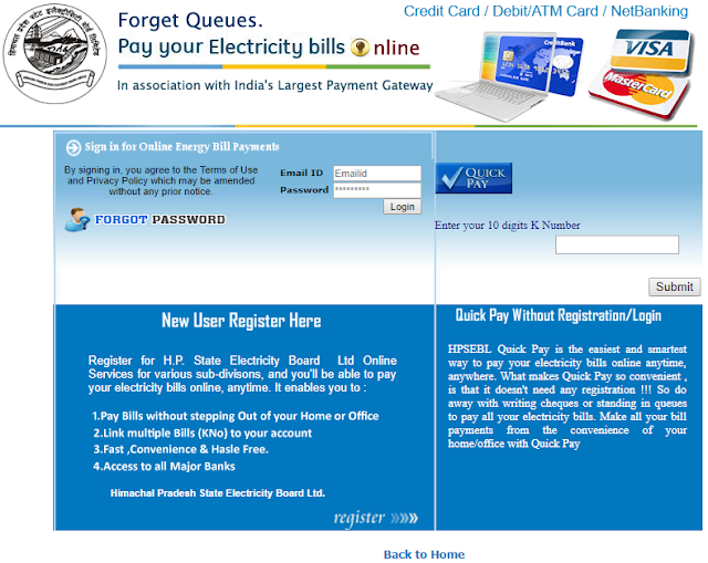 Electricity Bill Online in Himachal Pradesh