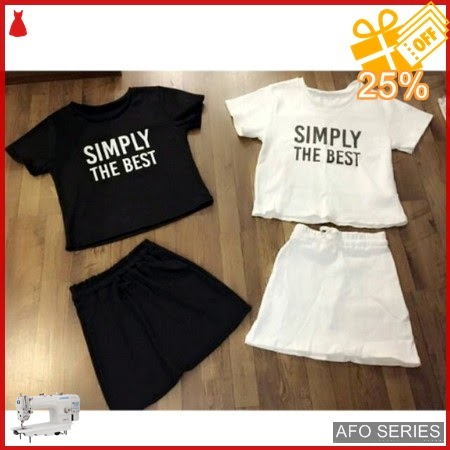 AFO344 Model Fashion Crop Simply The Best Modis Murah BMGShop