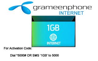 Grameenphone Internet 1GB Pack-275 Taka