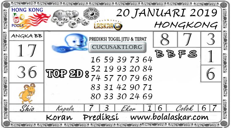 Prediksi Togel HONGKONG LASKAR4D 20 JANUARI 2019