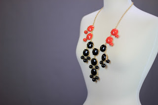 Red and black bubble gem necklaces