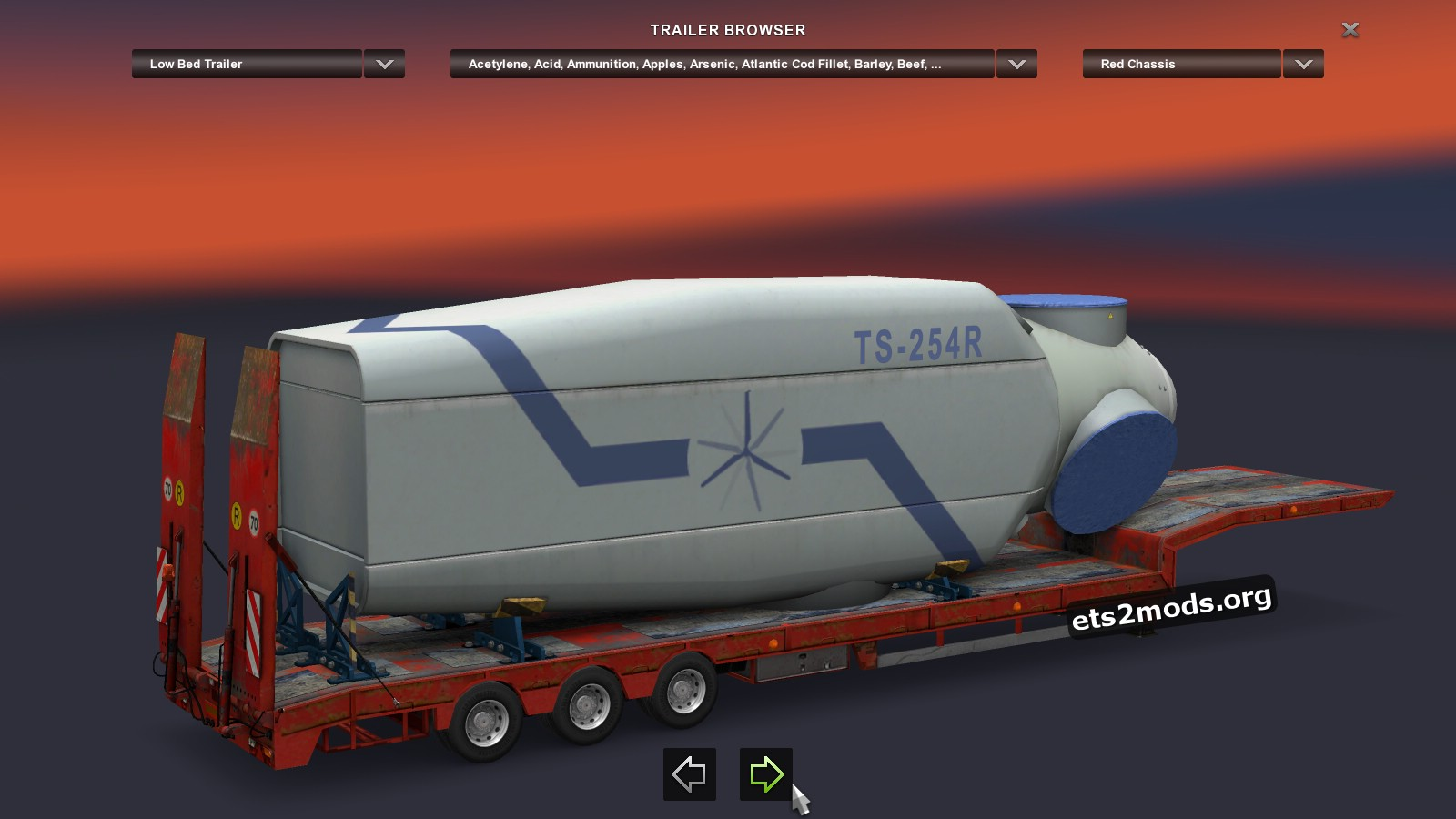 Wind Turbine Nacelle Trailer