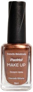 Esmalte Panvel Make Up Dourado Atitude: R$ 4,35