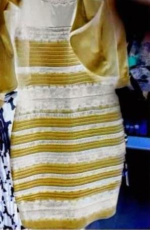 Azul E Preto Ou Branco E Dourado Vestido Polêmico Estouro