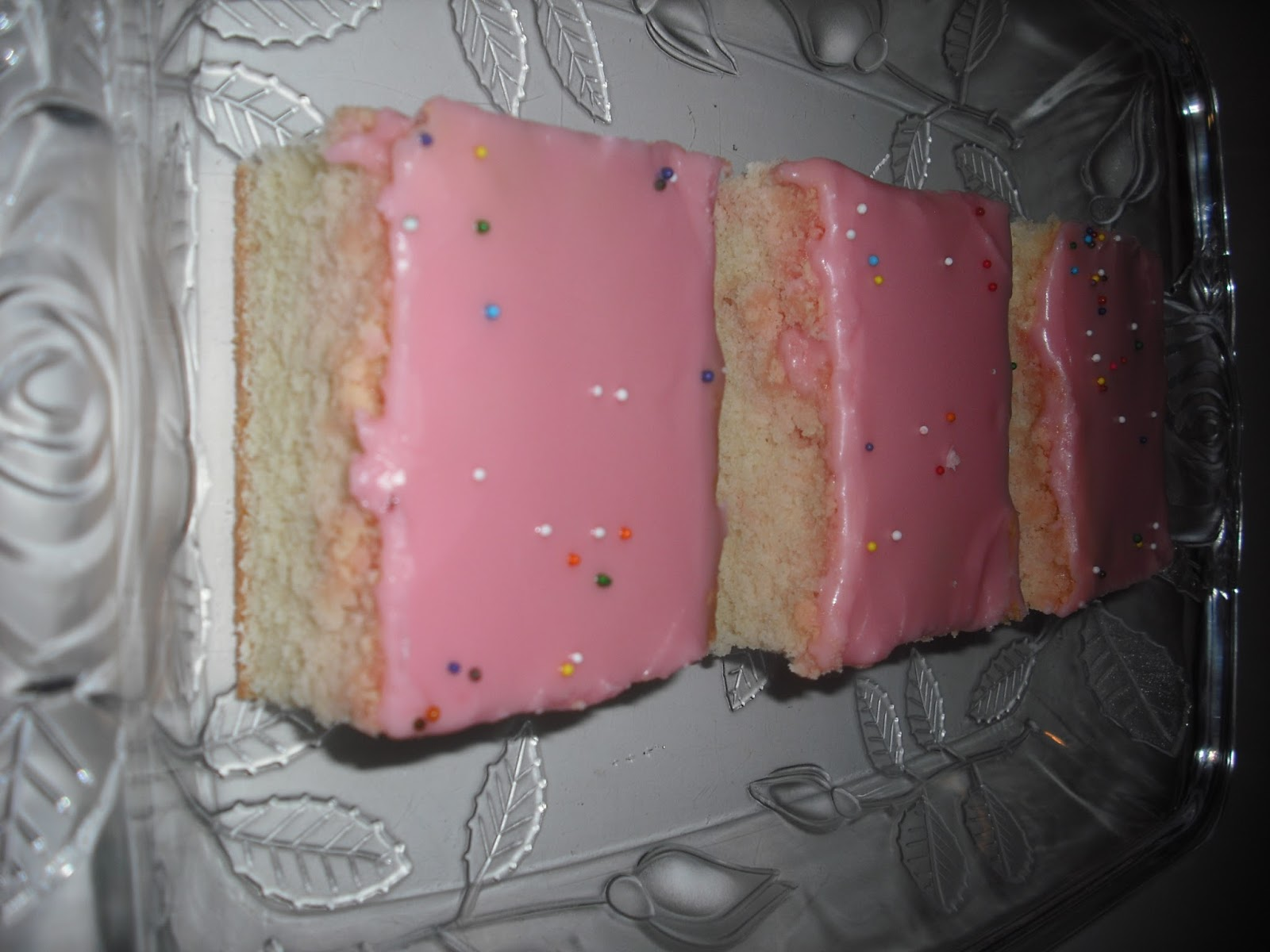 Recipe Marketing Snack Cake With Pink Icing