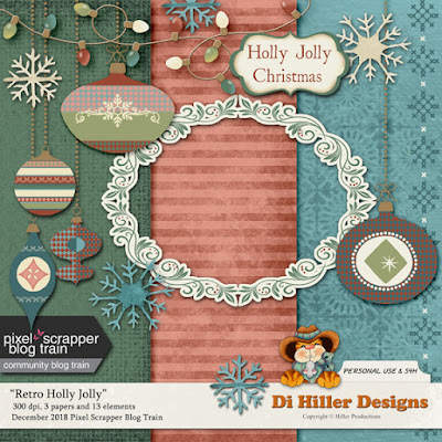 December Pixel Scrapper Blog Train, Fan Freebie and Meet Little Boo