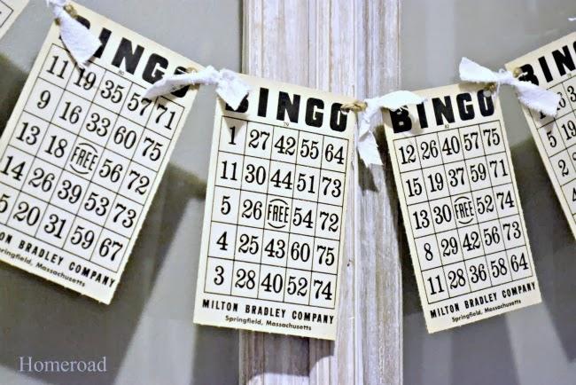 Vintage Valentine DIY Bingo Card Banner. Homeroad.net