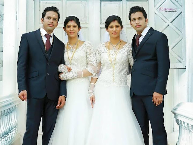 identical twins get married to identical twins