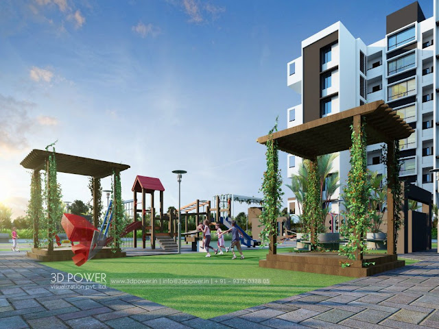 Latest Apartment Rendering with Garden Day View