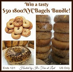 Enter the $50 1800NYCBagels Bundle Giveaway. Ends 12/1