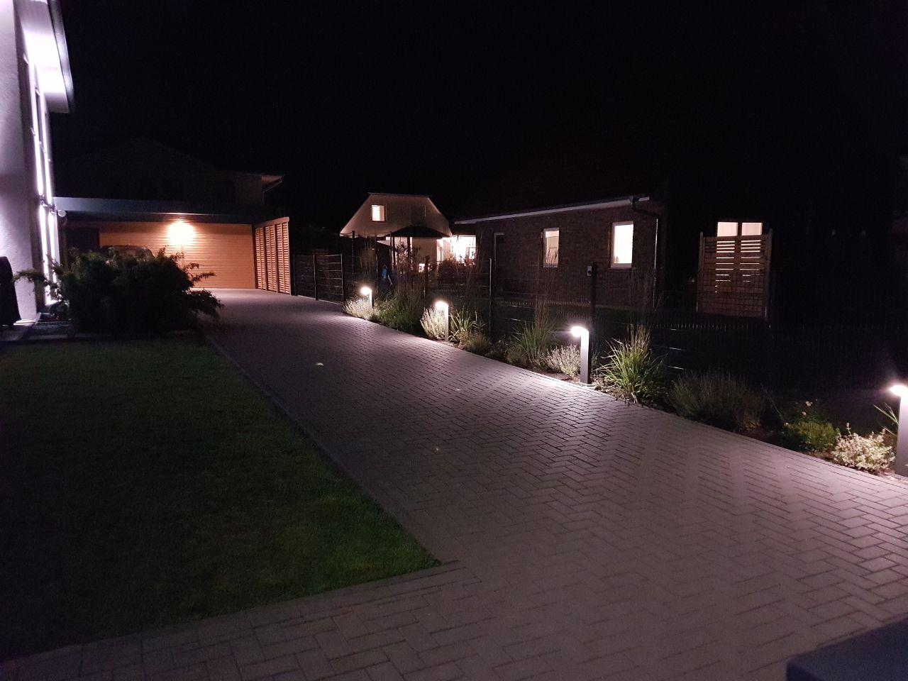 Stadtvilla in Elmenhorst: Erweiterung der Außenbeleuchtung