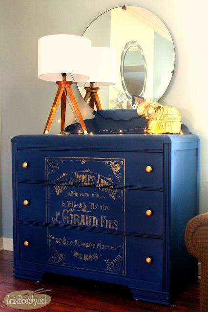 http://www.artisbeauty.net/2016/10/bohemian-blue-painted-vintage-dresser.html