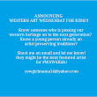 Western Art Wednesday For Kids Announcement