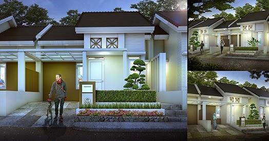 Rumah mungil minimalis pada tanah luas 84 m2 ~ 1000