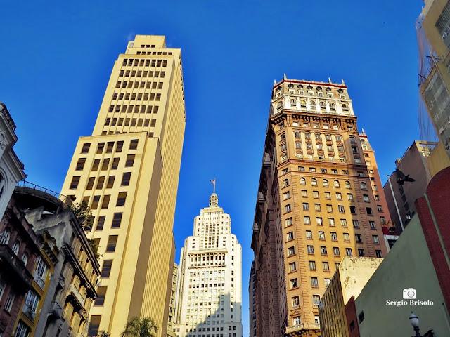 Vista ampla dos Edifícios Banco do Brasil, Altino Arantes e Martinelli - Centro - São Paulo