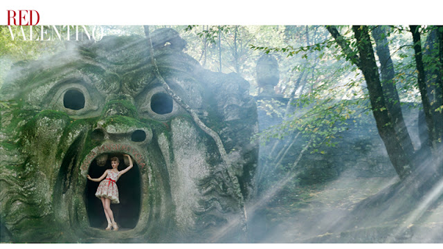 Red Valentino Spring Summer 2012 advertising campaign - Bomarzo, Parco dei Mostri