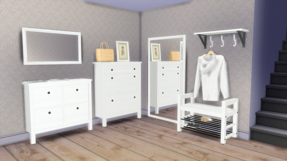 Schlafzimmer ikea hemnes  Sims 4 CC's - The Best: IKEA Hemnes Hallway Set by Natatanec