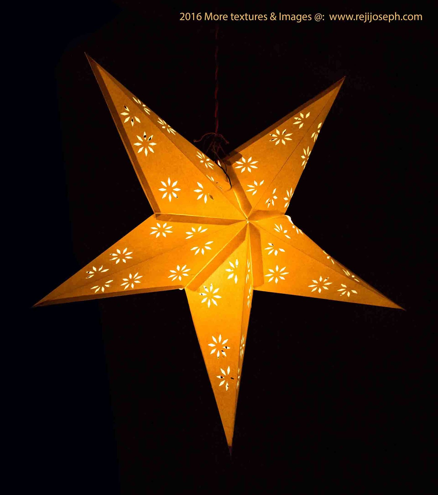 Christmas star Illumination light decoration 00004