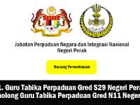 Jawatan Kosong di Jabatan Perpaduan Negara dan Integrasi Nasional Negeri Perak (JPNIN)