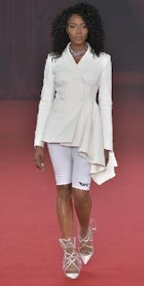 Naomi Campbell Jimmy Choo Plastic Shoes