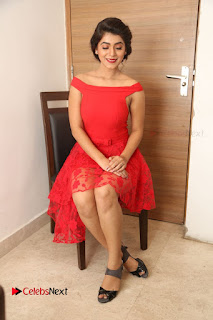 Actress Yamini Bhaskar Latest Pictures in Red Dress at 100 Days of Love Movie Audio Launch  0142.JPG