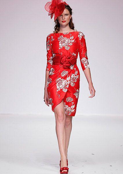 vestidos de novia rojos cortos