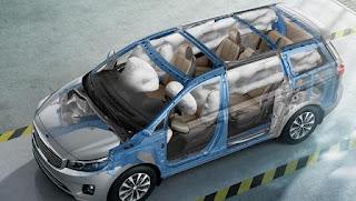 Sedona với 6 túi khí quanh xe.