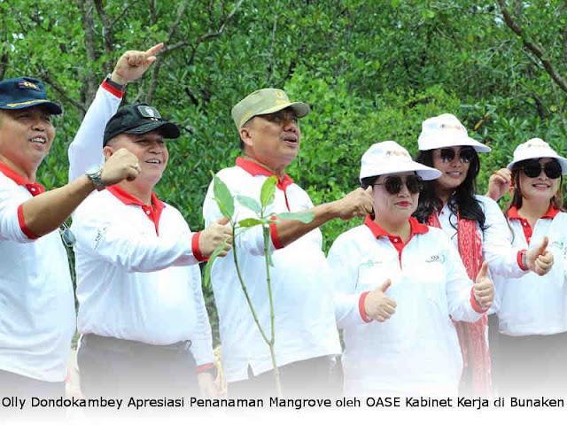 Olly Dondokambey Apresiasi Penanaman Mangrove oleh OASE Kabinet Kerja di Bunaken