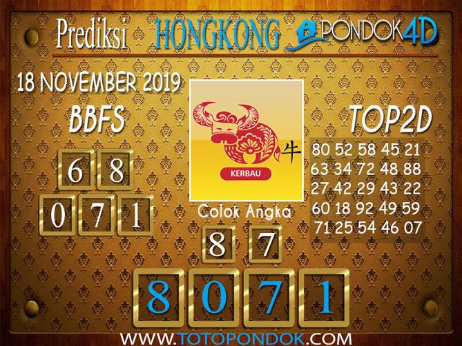 Prediksi Togel HONGKONG PONDOK4D 18 NOVEMBER 2019