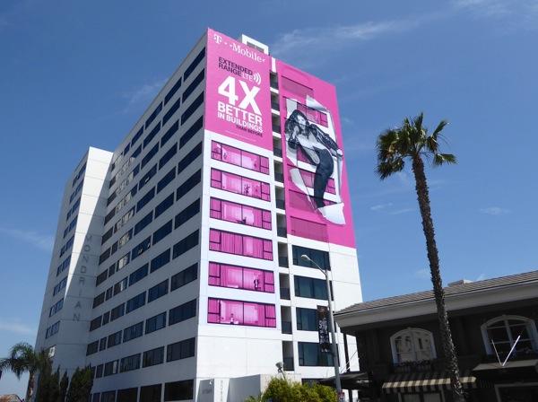 Giant T-Mobile billboard Sunset Strip