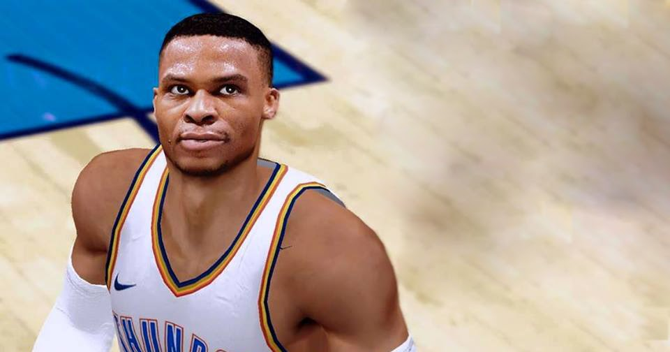 Russell Westbrook Cyberface Realistic 2017-2018 [FOR 2K14] - NBA 2K Updates, Roster Update ...